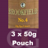 Brookfield No. 4 Pipe Tobaccoo 150g (3 x 50g Pouches)