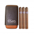 C.Gars Two Tone Leather Cigar Case Fuerte and Montecristo No. 4 Sampler
