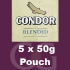 Condor Blended Pipe Tobacco 250g (5 x 50g Pouches)