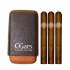 C.Gars Two Tone Leather Cigar Case Fuerte and H. Upmann Majestic Sampler