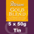 Peterson Gold Blend Pipe Tobacco - 250g (5 x 50g Tins)