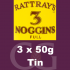 Rattrays 3 Noggins Pipe Tobacco 3x50g Tins