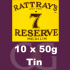 Rattrays 7 Reserve Pipe Tobacco 10x50g Tins