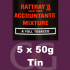 Rattrays Accountants Mixture Pipe Tobacco 5x50g Tins