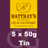Rattrays Old Gowrie Pipe Tobacco 5x50g Tins