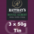 Rattrays Royal Albert Pipe Tobacco 3x50g Tins