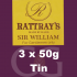 Rattrays Sir William Pipe Tobacco 3x50g Tins