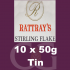 Rattrays Stirling Flake Pipe Tobacco 10x50g Tins