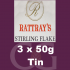 Rattrays Stirling Flake Pipe Tobacco 3x50g Tins