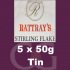 Rattrays Stirling Flake Pipe Tobacco 5x50g Tins