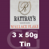 Rattrays Wallace Flake Pipe Tobacco 3x50g Tins