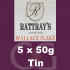 Rattrays Wallace Flake Pipe Tobacco 5x50g Tins