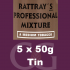Rattrays Professional Mixture Pipe Tobacco 5x50g Tins