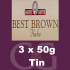 Samuel Gawith Best Brown Flake Pipe Tobacco 3x50g Tins