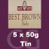 Samuel Gawith Best Brown Flake Pipe Tobacco 5x50g Tins