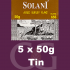 Solani Pipe Tobacco Aged Burley Flake 5x50g Tins