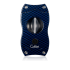 Colibri V Cut Carbon Fiber Cigar Cutter - Blue