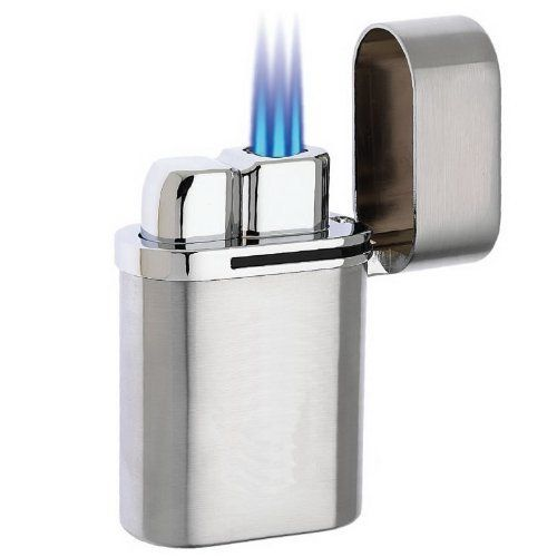 Vector Thundra - Triple Torch Table Lighter - Chrome