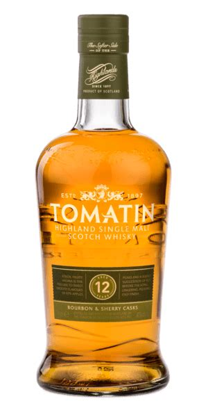 Tomatin 12 Year Old Bourbon & Sherry Cask Whisky - 20cl 43%