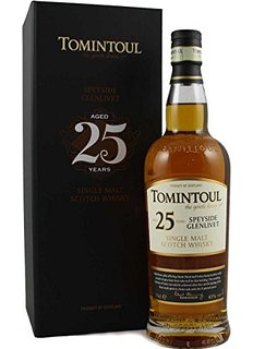 Tomintoul 25 Year Old Whisky - 70cl, 43%