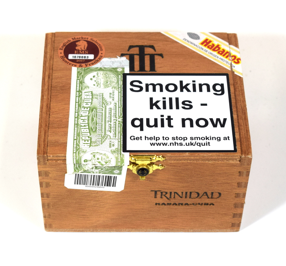 Empty Trinidad Reyes Cigar Box