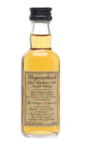 Usquaebach 15 Year Old Pure Highland Malt Scotch Whisky Miniature - 5cl 43%
