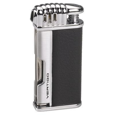 Vertigo Lotus Puffer - Pipe Lighter - Matt Black & Brushed Chrome
