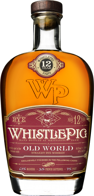 Whistlepig 12 Year Old Old World Cask Finish Whiskey - 75cl 43%