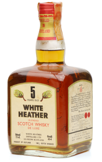 White Heather 5 Year Old Bottle Blended Scotch Whisky - 75cl 43%
