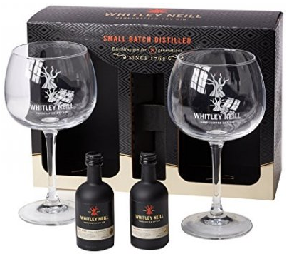 Whitley Neil Gin Gift Pack - 2x5cl Miniatures with 2 Glasses