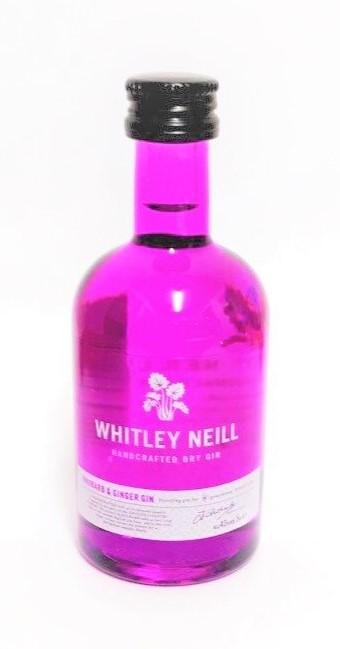 Whitley Neill Rhubarb & Ginger Gin Miniature - 5cl 43%